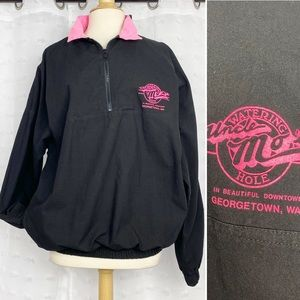 Vtg 80s Mo's Watering Hole 1/4 zip pullover XL